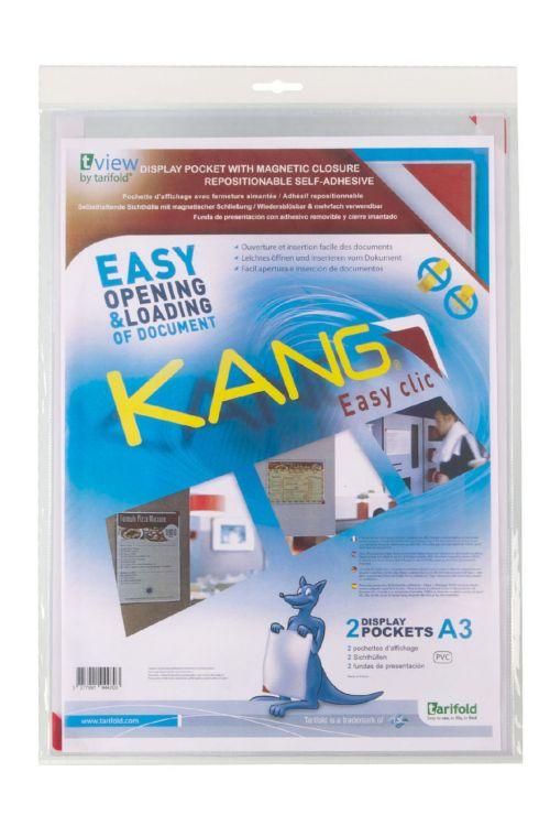 Tarifold Kang A3 Magnetic Closure Pockets Red PK2