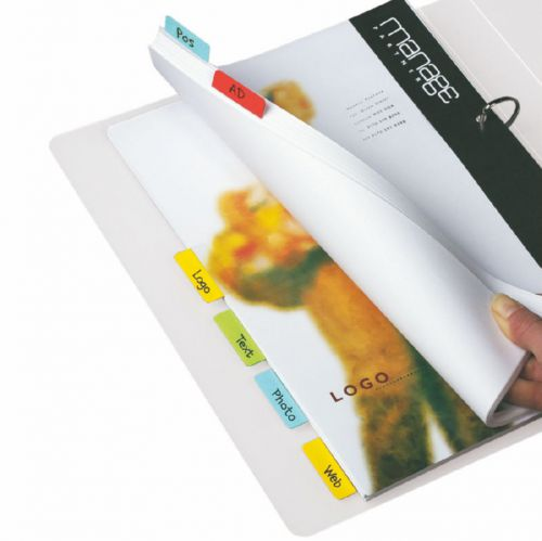 3L Index Tabs Self Adhesive 25mm Assorted 10510 (PK72)