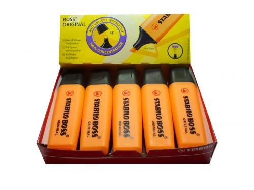 Stabilo Boss Hilighters Chisel Tip 2-5mm Line Orange PK10