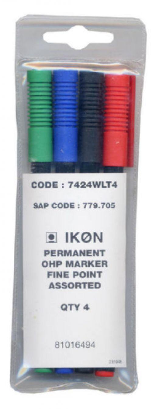 Value Ohp Non-Permanent Fine Assorted PK4