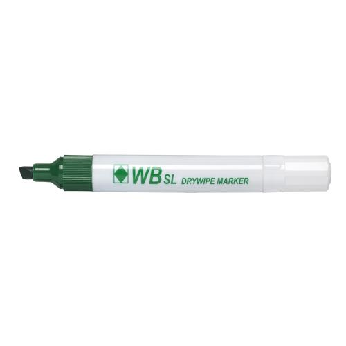ValueX Drywipe Marker Chisel Tip Green (Pack 10)