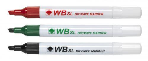 Value Drywipe Marker Chisel Tip Assorted PK4
