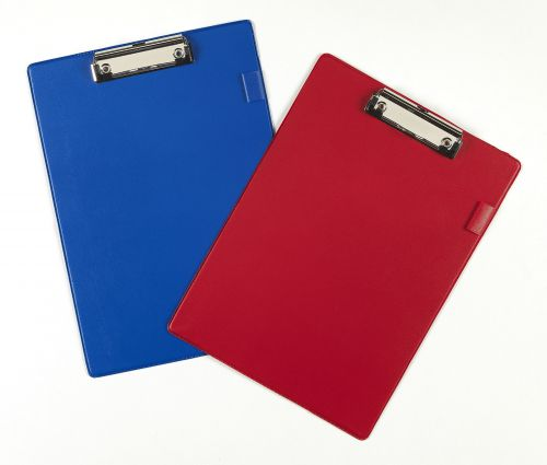 Value PVC A4 Clipboard Red