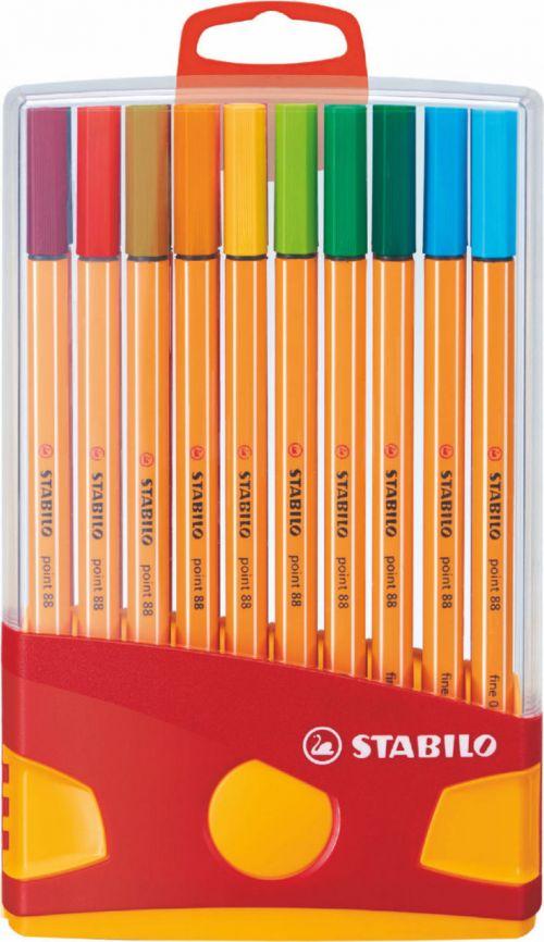 Stabilo Point 88 Pen Fineliner 0.4mm Assorted PK20