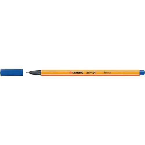 Stabilo Point 88 Pen Fineliner 0.4mm Blue PK10