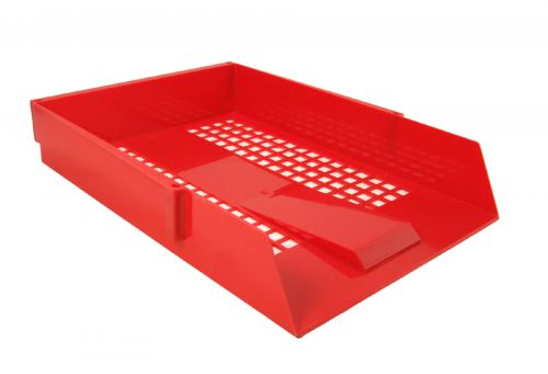 ValueX Deflecto Letter Tray Red