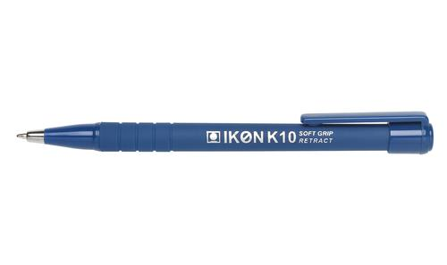 Value Retractable Ball Pen Soft Grip 0.7mm Blue (PK12)