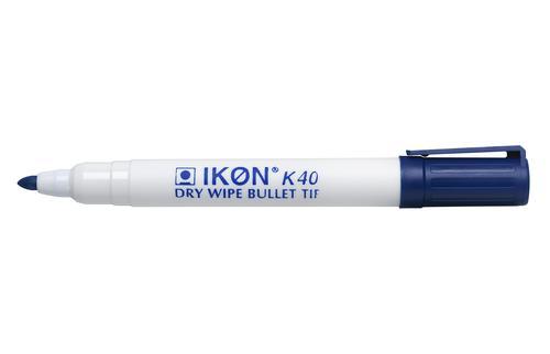 Value Dry Wipe Marker Bullet Tip Blue (PK10)