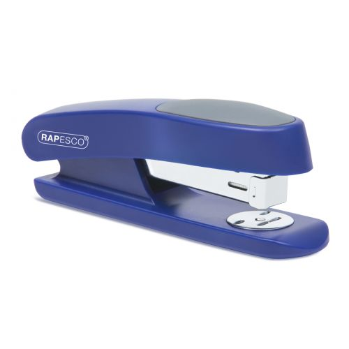 Rapesco Sting Ray Half Strip Stapler 20 Sheets Blue