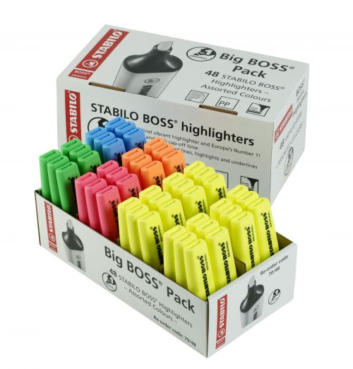 Stabilo Boss Chisel Tip Highlighters 5 colours PK48
