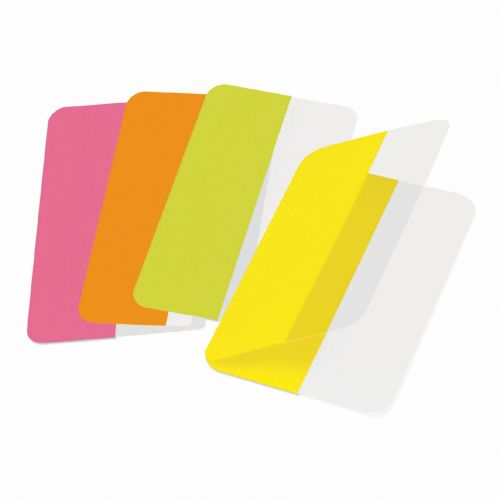 Image for 3L Twin Index Tabs Self Adhesive 40mm Assorted PK24