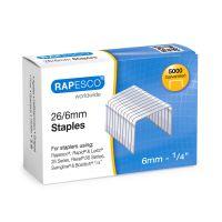 Rapesco 26/6mm Galvanised Staples (Pk5000)