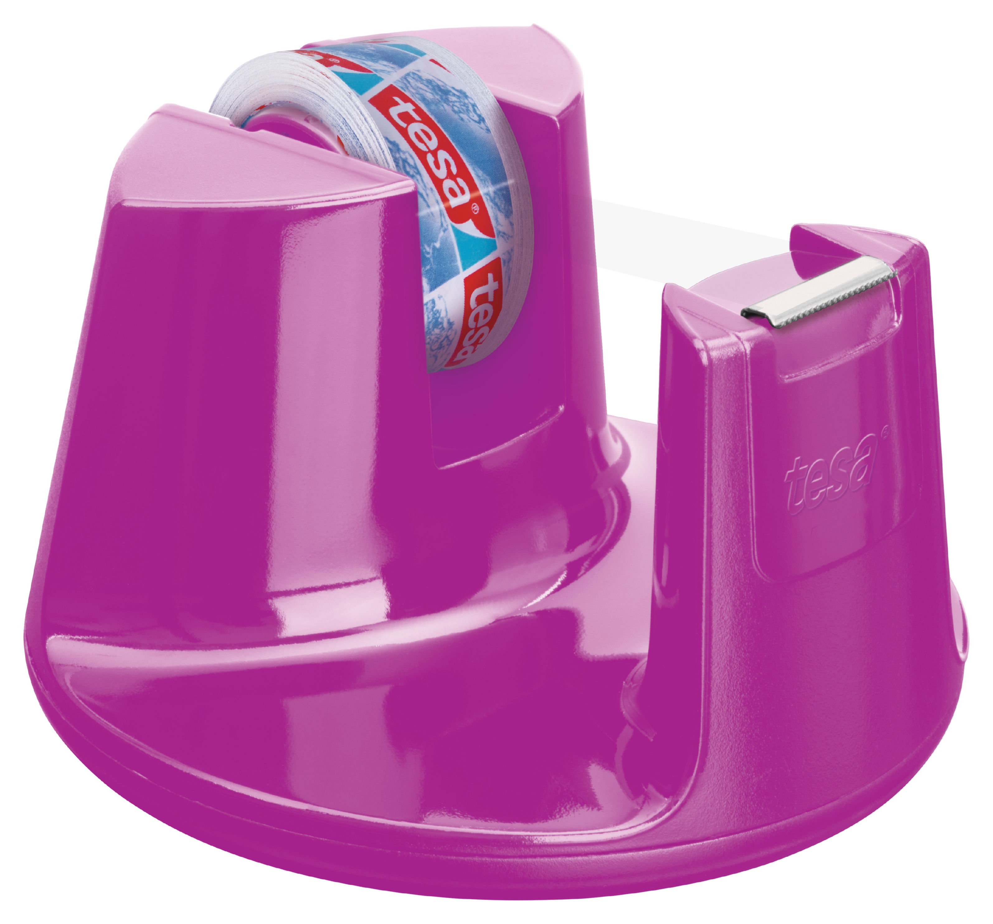 Tape Dispensers tesa Easy Cut Compact Dispenser Pink Including 1 roll 15mmx10m