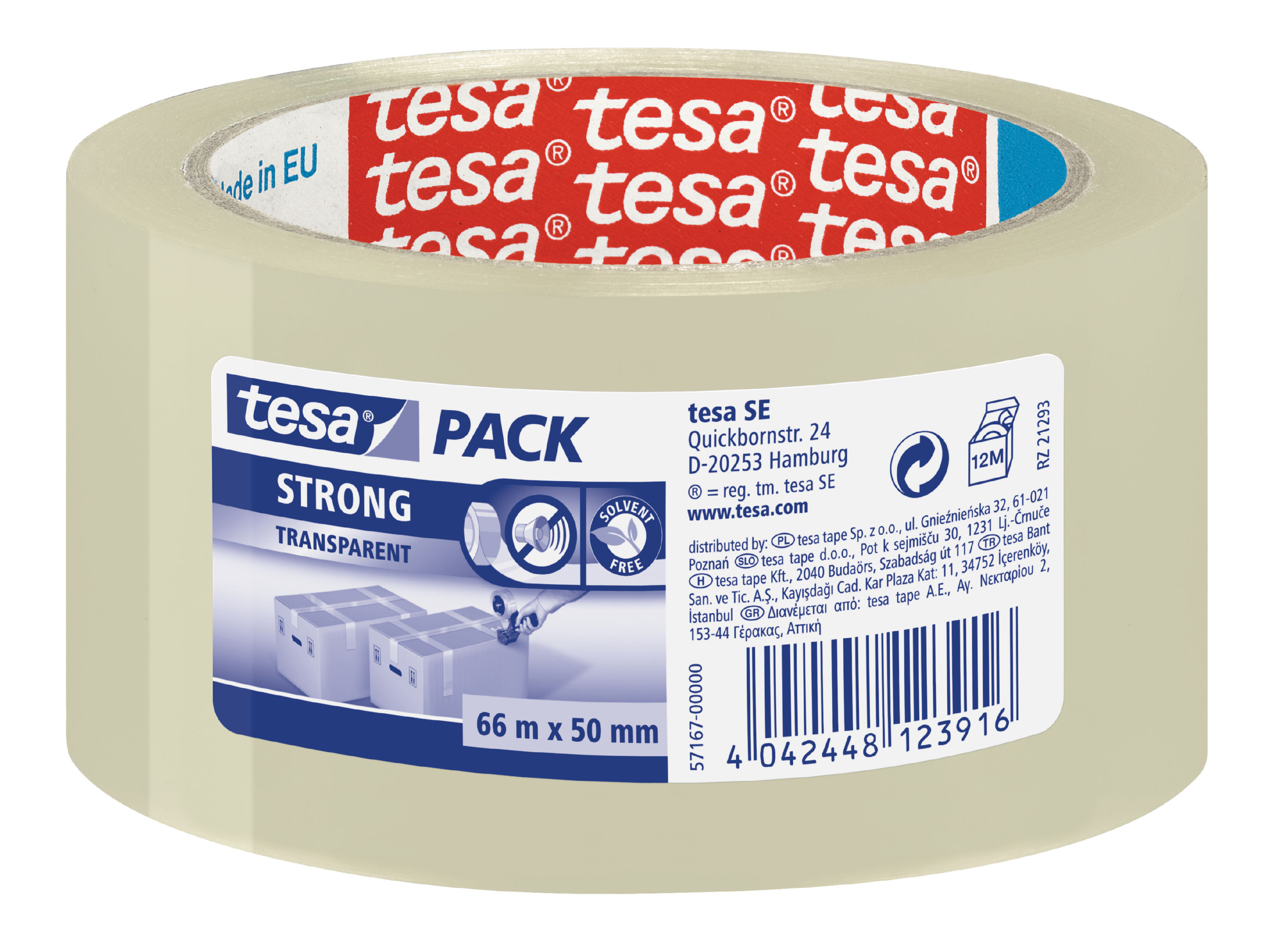 tesa Strong PP Tape 50mmx66m Clear PK6