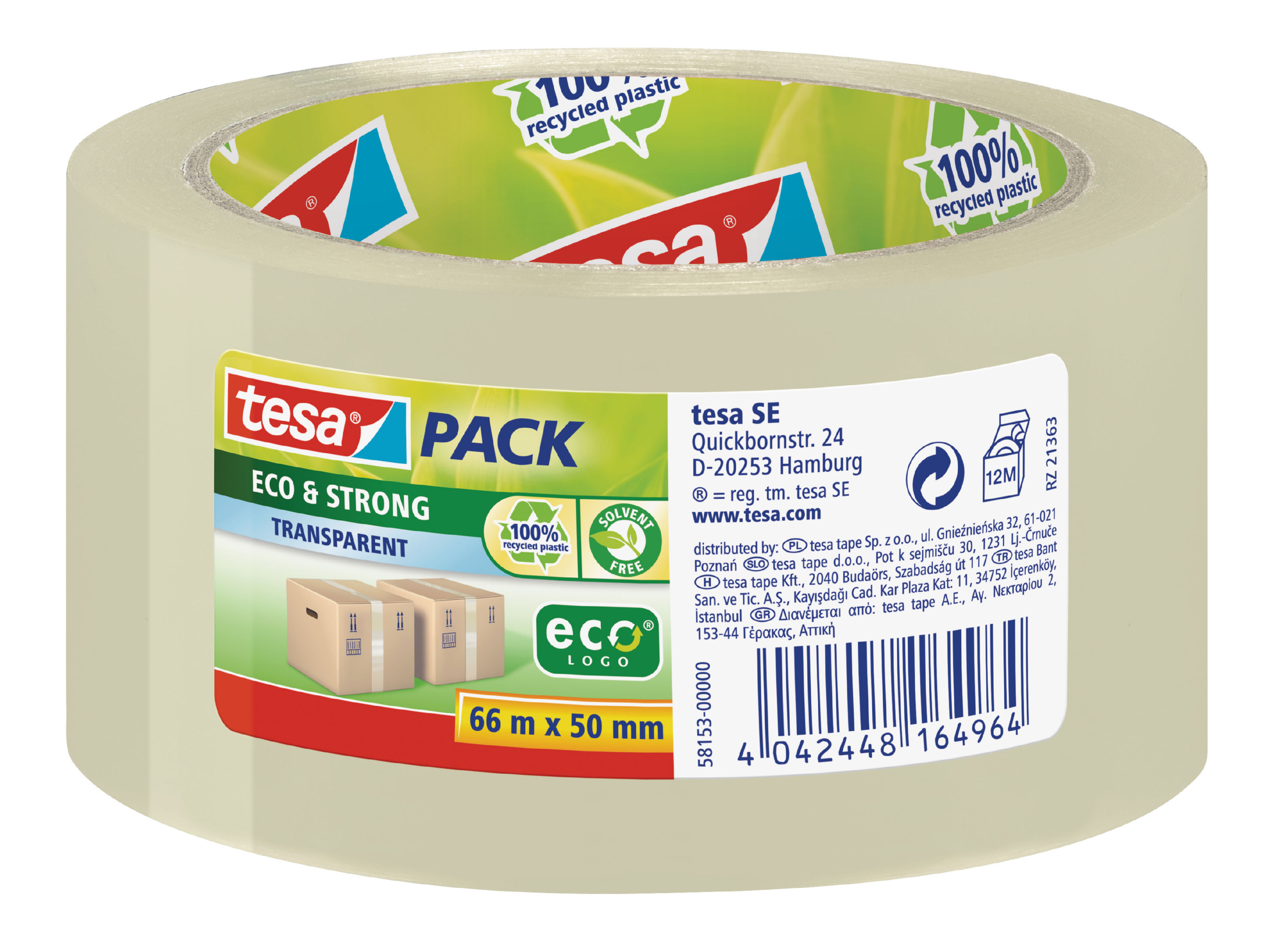 tesa Eco PP Tape 50mmx66m Clear PK6