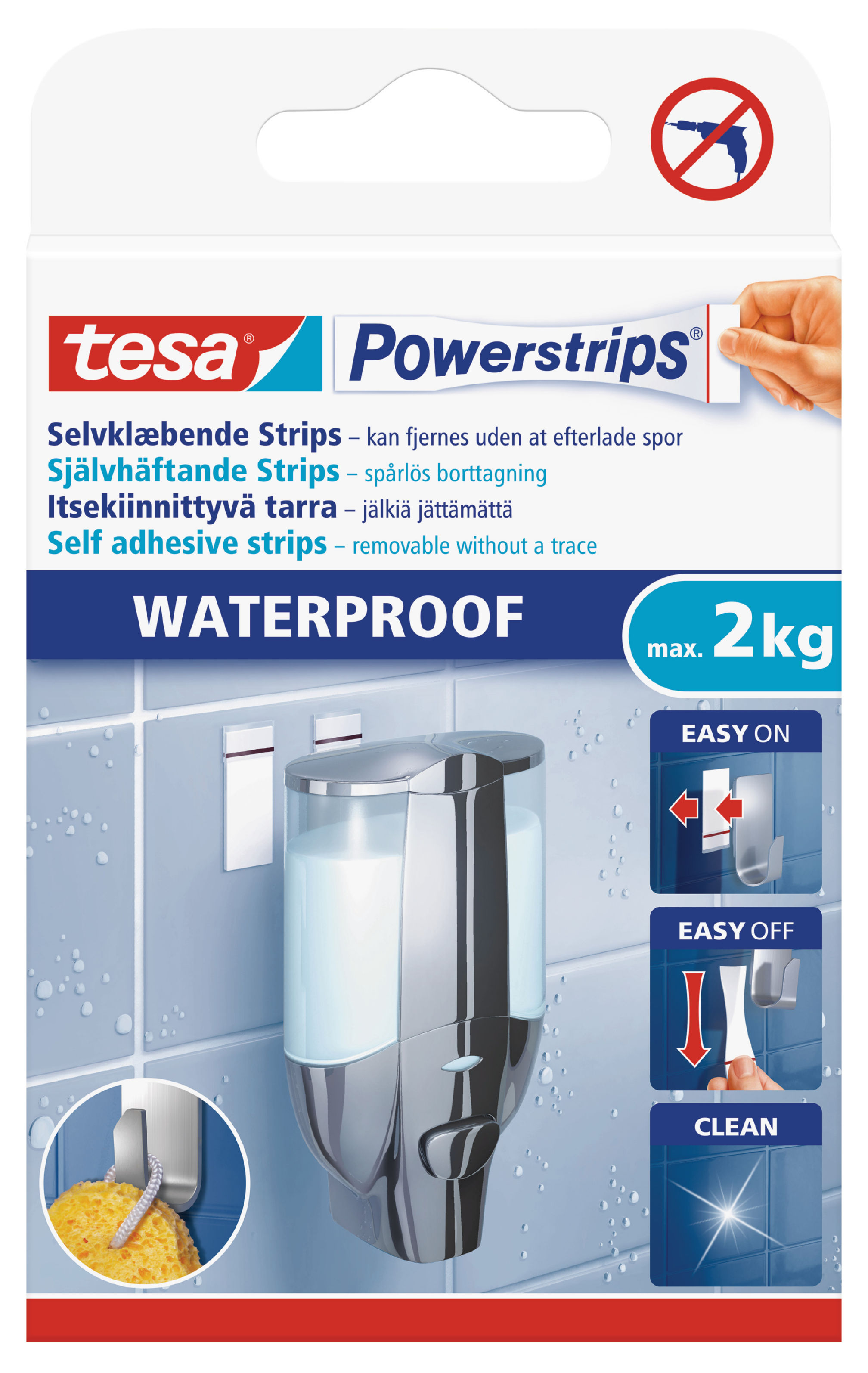 Fixers / Dots / Strips tesa Waterproof Powerstrips Large 59700 PK6