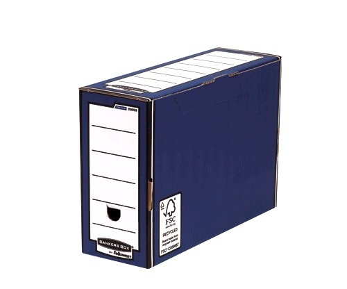 Storage Boxes Fellowes Premium Transfer File 127mm Blue PK10