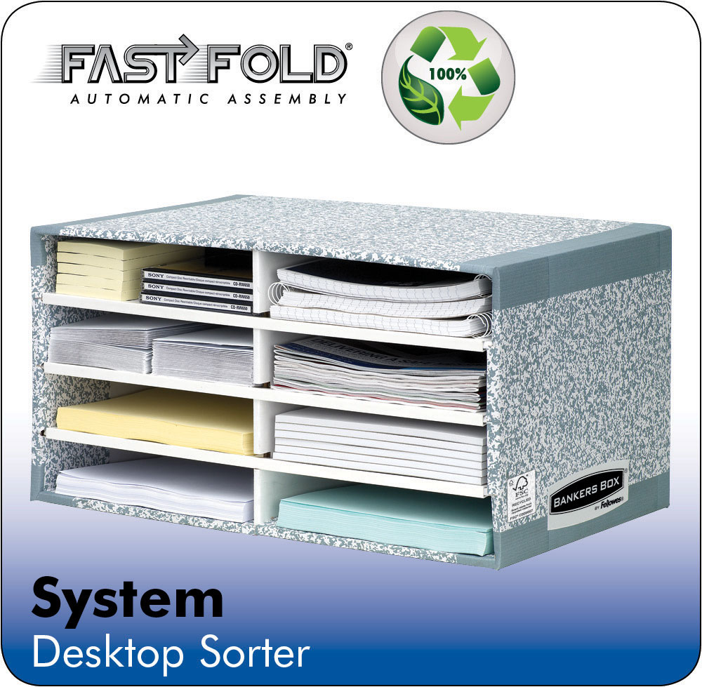 System Desk Top Sorter Grey PK5