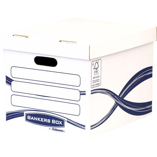 Value Storage Box White and Blue PK10