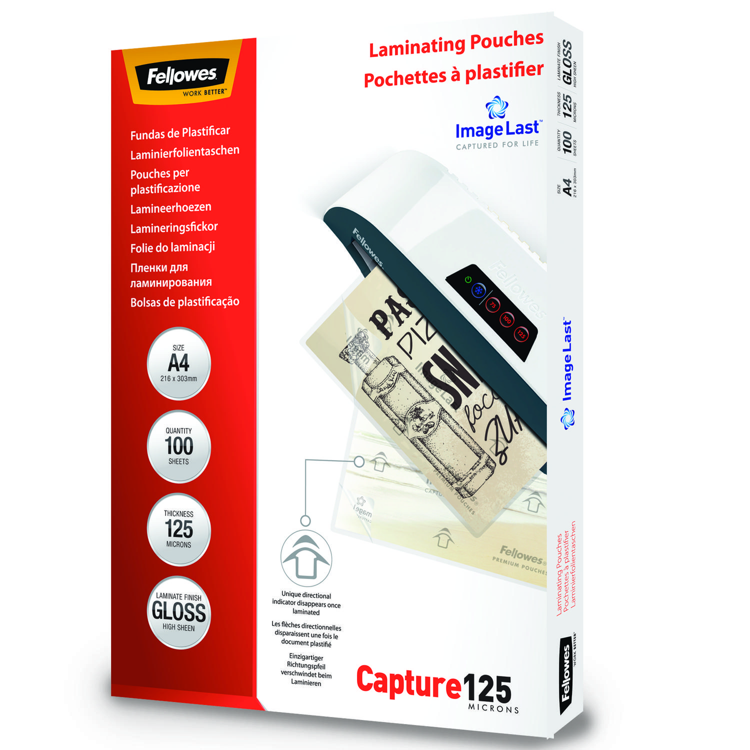Laminating Film & Pockets Fellowes Laminating Pouch A4 2x125 micron 5307407 (PK100)