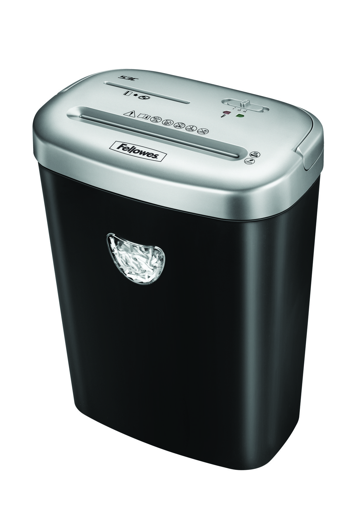 Fellowes 53C Deskside Shredder 4.0x50mm Cross Cut 25 Litre Din3 10 Sheet Ref 4653001