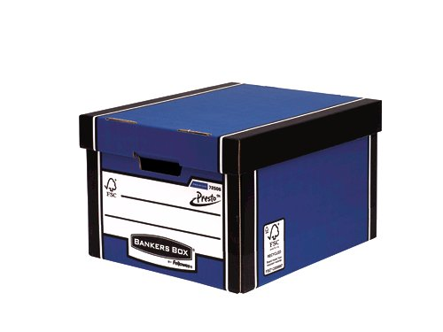 Fellowes Bankers Box Premium Presto Classic Storage Box Blue 7250601