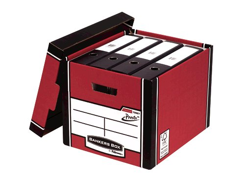 Bankers Box Red Presto Bankers Box Premium Storage Boxes (Pack of 10) 7260703