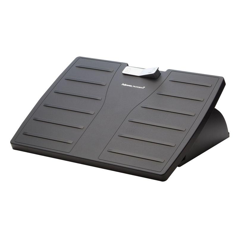 Footrests Fellowes Office Suites Microban Foot Rest Adjustable Black