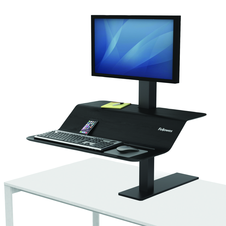 Sit Stand Desks Fellowes Lotus VE Sit Stand Workstation Single