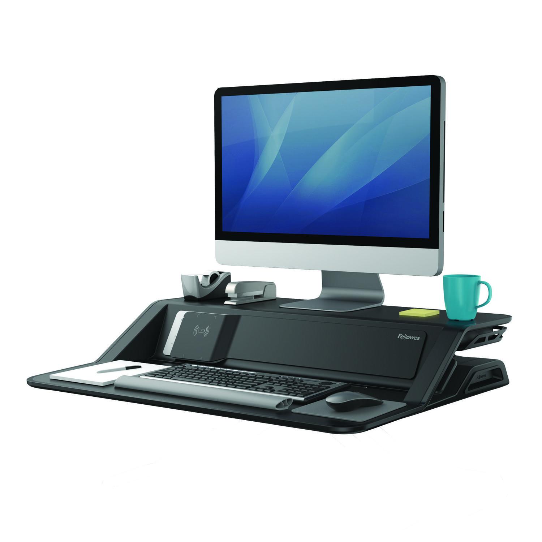Sit Stand Desks Fellowes Lotus DX Sit Stand Workstation Black