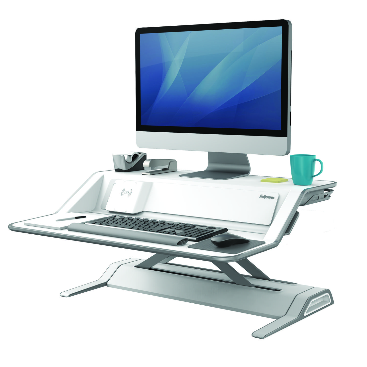 Sit Stand Desks Fellowes Lotus DX Sit Stand Workstation White