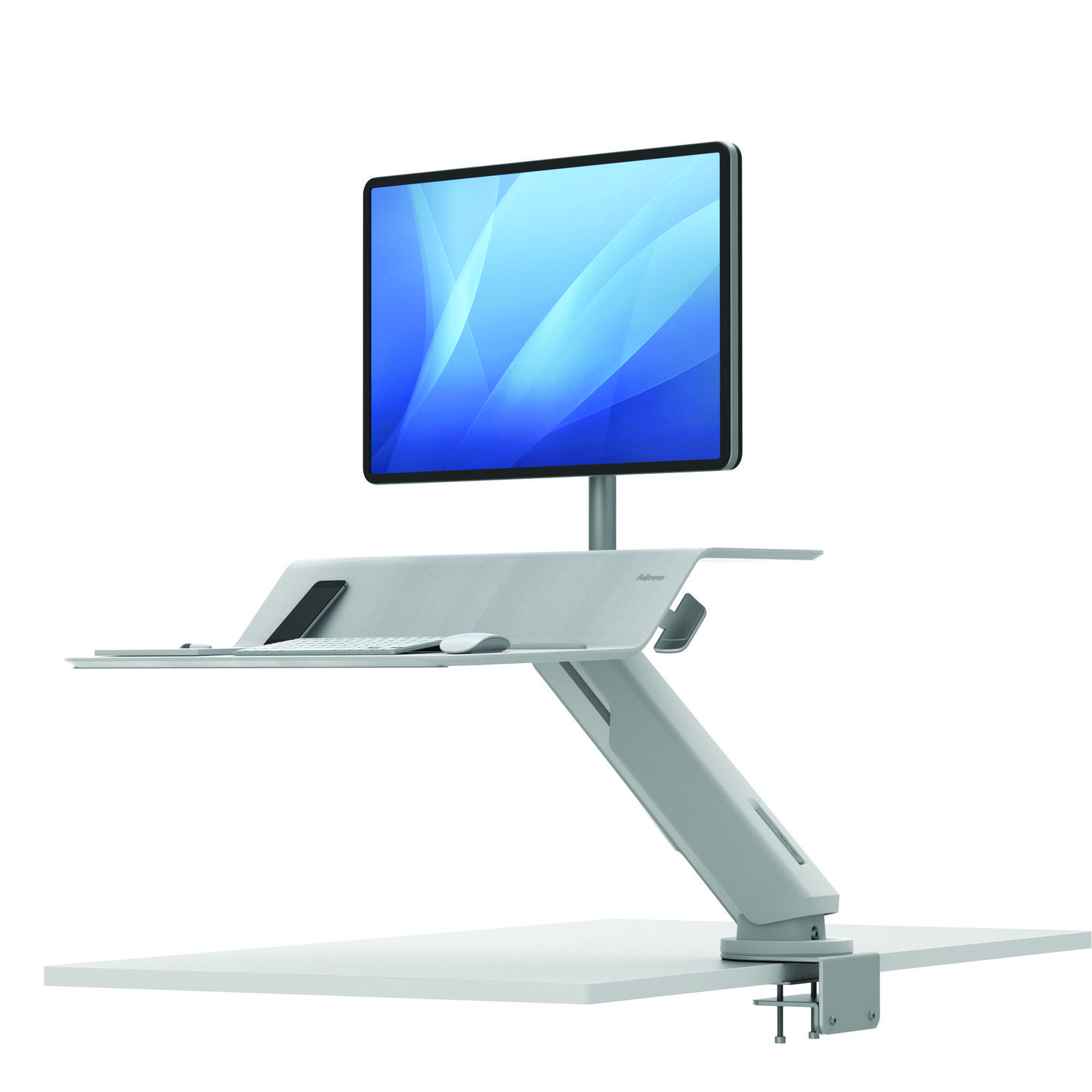 Sit Stand Desks Fellowes Lotus RT Sit-Stand Workstation Single White