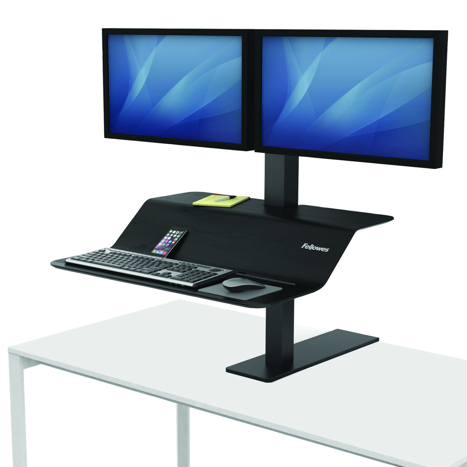 Sit Stand Desks Fellowes Lotus VE Sit Stand Workstation Dual