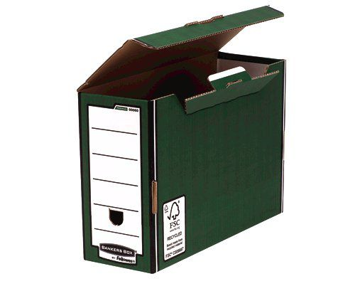 Bankers Box by Fellowes Premium Transfer File Green and White Ref 6003-FFSP1 [Pack 10]