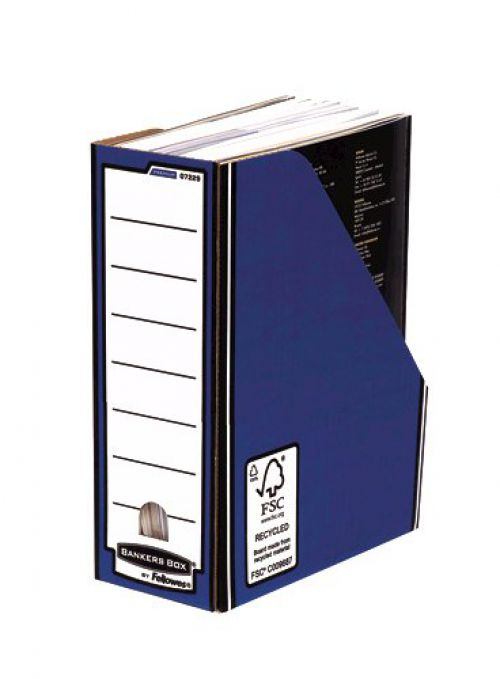 Fellowes Bankers Box Premium Magazine File A4 Blue/White 07229-FFSP2