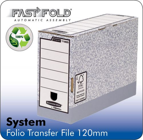 Fellowes Bankers Box Transfer File 120mm Grey/White Ref 1180501 [Pack 10]