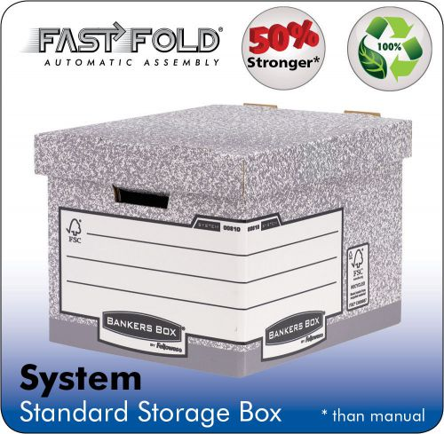 Fellowes System Standard Box Grey PK10
