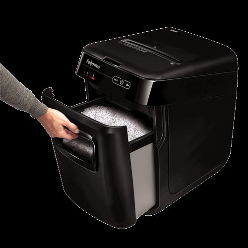 Fellowes AutoMax Shredder 2x14mm Micro-cut P-5 32 Litre Black Ref 4656401