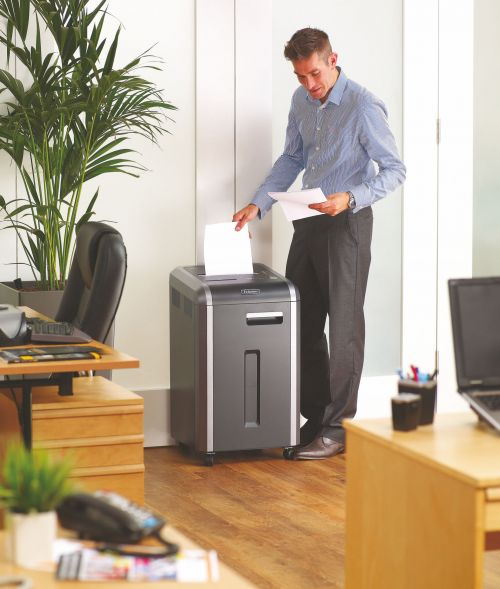 Fellowes 225i Shared Workspace Shredder Ribbon Cut DIN3 P-2 Ref 4623101