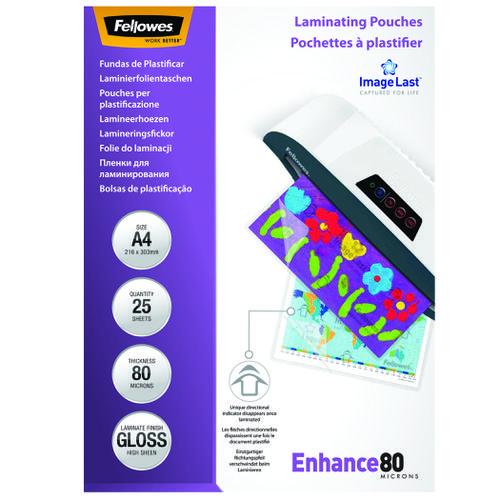 Fellowes Laminating Pouch A4 2x80 micron 5396205 (PK25)