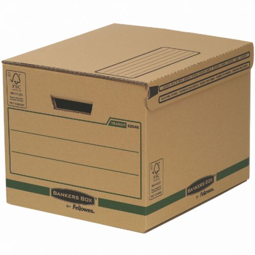 Fellowes Smmoth Move Bankers Box Removal Boxes Small 340x293x396mm Ref 6204601 [Pack 10]
