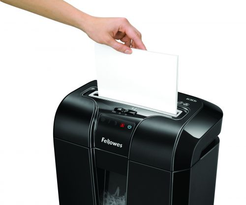 Fellowes 63Cb Deskside Shredder Cross Cut 19 Litre Din3 10 Sheet Ref 4600201