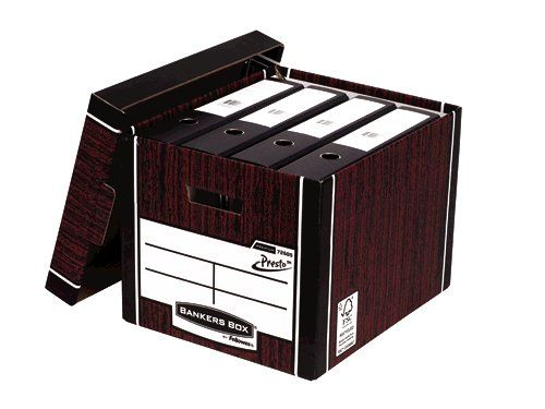 Bankers Box Woodgrain Tall Premium Storage Box (Pack of 10) 7260503