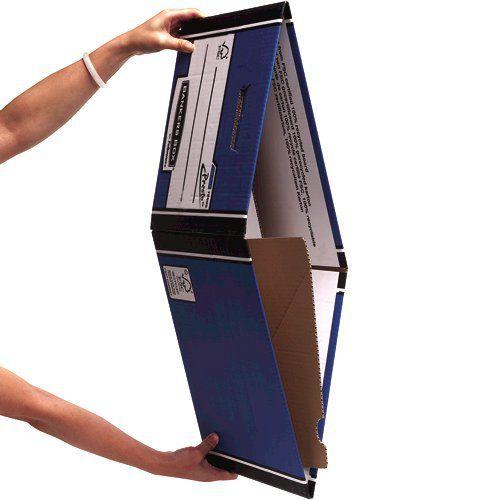 Bankers Box Premium Storage Box (Presto) Tall Blue FSC Ref 7260602 [Pack 10]