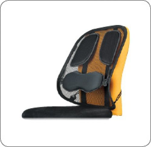 Fellowes Pro Srs Black Mesh Back Support