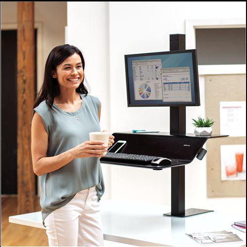 Lotusâ ¢ VE Sit-Stand Workstation - Single
