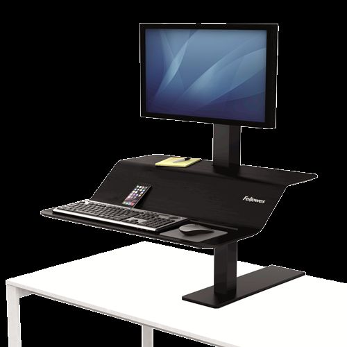Fellowes Lotus VE Sit-Stand Workstation Single 8080101