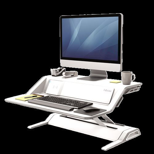 FELLOWES 8081101 Lotus DX Sit-Stand Workstation - White