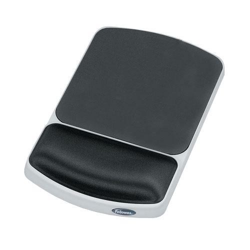 Fellowes Gel Wrist Rest Mousepad Graphite