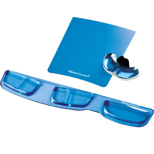 Fellowes, Inc Fellowes Keyboard Palm Support With Microban® Protection -  0 6 X 18 3 X 3 4 Dimension - Blue - Gel Cushion, Polyurethane